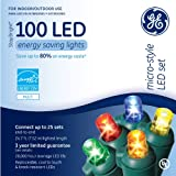 Ge Micro Mini Led Light Set 100 Lights Multi-Colored Bulbs Led 3""