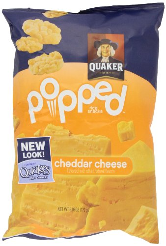 Quaker Quakes Rice Snacks, Cheddar Cheese, 6.06Oz Packages (Pack Of 4)