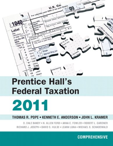 Prentice Hall's Federal Taxation 2011: Comprehensive...