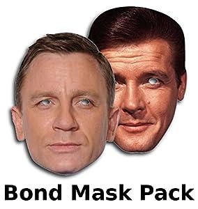James Bond mask set - Includes Daniel Craig and Roger Moore