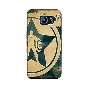 Samsung Galaxy S6 Edge Designer Printed Case & Covers (Samsung Galaxy S6 Edge Back Cover) - Superhero Captain America