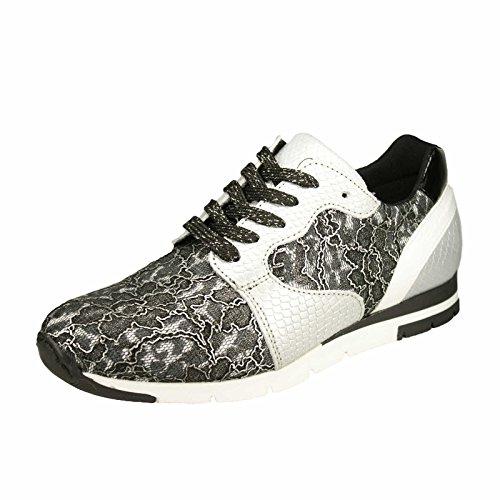 Tamaris 1-23635-35-982, Sneaker donna Grigio grigio, Nero (Schwarz Kombi), 39
