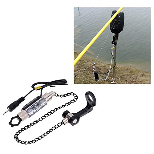 Fishing Accessory LED Illuminated Indicator Fishing Alarm Chain Hanger Fishing Swinger Indicator Fishing Bite Alarm Fishing Tackle Tool