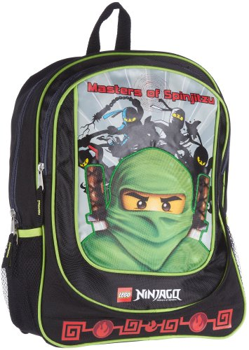 Lego 16 Inch Ninjago Backpack - Black (Black)