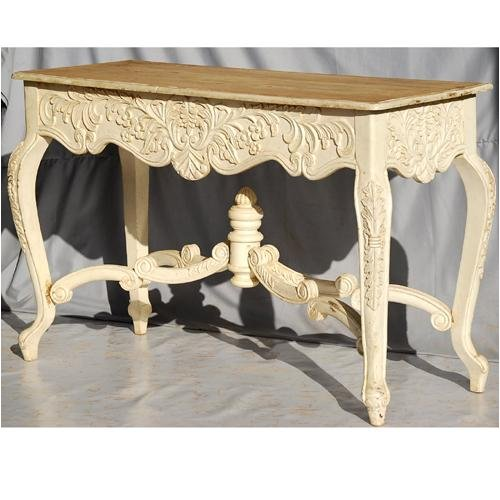 Cheap Indian Rosewood Queen Anne Ivory Entry Hall Foyer Console Table (B0014DKP9S)