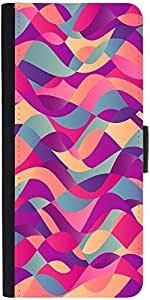Snoogg Mosaic Abstract Wave Background Colorful Abstract Hand Drawn Patternde...
