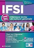 echange, troc Raymonde Bichart, Valérie Beal, Marie Péan - IFSI l'épreuve écrite de culture générale concours 2012