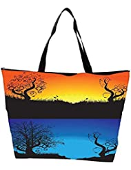 Snoogg Abstract Tree Background Waterproof Bag Made Of High Strength Nylon