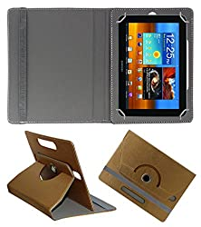 Acm Designer Rotating 360° Leather Flip Case For Samsung Galaxy Tab 8.9 P7310 Tablet Stand Premium Cover Golden