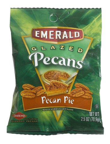 Emerald Nuts Glazed Pecans Pecan Pie 2 5 Ounce Bags Pack of 12