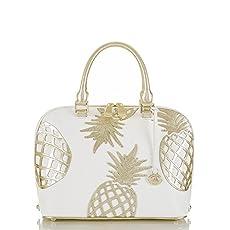 Vivian Dome Satchel<br>Gold Del Pina