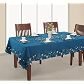 Printed And Solid Table Cover 6 Seater Rectangular 60X90 Inch,1 Table Cover,6 Napkins,1 Runner,100% Duck Cotton...