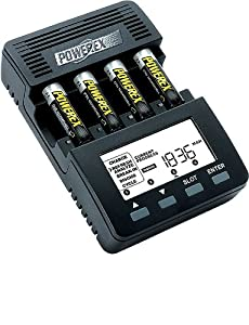 PowerEx MH-C9000 WizardOne Charger-Analyzer + 4 Pack AA NiMH Rechargeable Batteries [2700mAh]