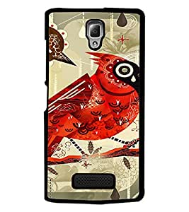 PrintDhaba Random Design D-3675 Back Case Cover for LENOVO A2010 (Multi-Coloured)
