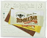 BumbleBar Gluten Free Junior Variety Pack, 0.65-Ounce Bars (Pack of 12)