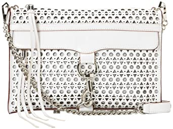 Rebecca Minkoff Mac Perforated 10CETPCCR2 Clutch,Vanilla,One Size