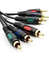 Component YUV Vidéo RGB YUV 3 Cinch Vers 3 RCA Cinch câble Cordon 1,5 m