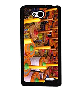 Colourful Kite Charkhi 2D Hard Polycarbonate Designer Back Case Cover for LG L90