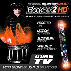 Orange - Rockstix2 Hd Led Light Up Drum Sticks - (firestix) from ROCKSTIX
