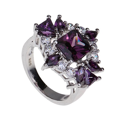 YAZILIND Valentine's Day Jewelry Crystal Engagement Band Ring Wedding For Women Size9 (Yazilind Rings compare prices)