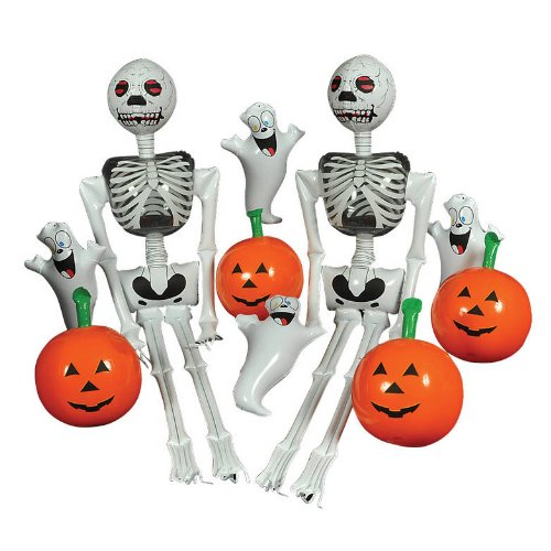 (10 Pack) Halloween Inflatables  2 (72) 6 Skeletons;  4 16 Ghosts  4 16 Pumpkins