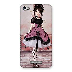 Gorgeous Cute Dancing Girl Multicolor Back Case Cover for Micromax Hue 2