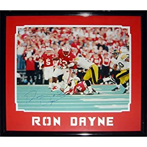 Ron Dayne Autographed Wisconsin Badgers (Record Breaking Run) Framed 16x20 Photo -... by PalmBeachAutographs.com