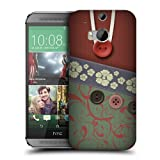 Head Case Designs Green Floral Swirls Button Purse Protective Snap-on Hard Back Case Cover for HTC One M8