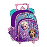 12 Disney Frozen Small Rolling Backpack w/ Wheels ~ Princess Anna & Elsa