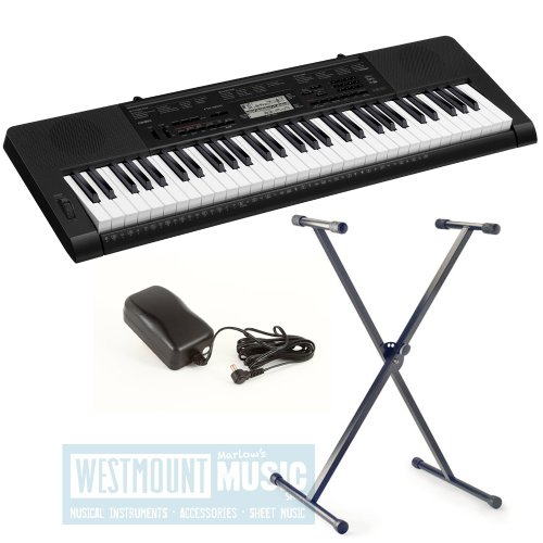 New Casio® CTK3000 Touch Sensitive Keyboard + Stand + AC Adaptor exclusive to Westmount Music