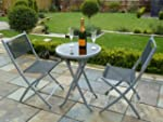 3 Piece Bistro Set for 2 - Folding Ga...
