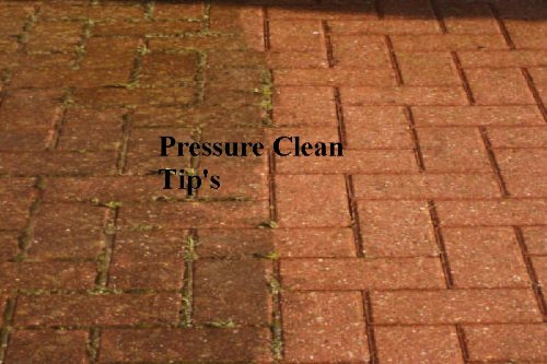 Pressure cleaner operations and tips!