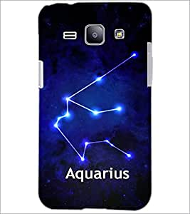 PrintDhaba Zodiac Aquarius D-3253 Back Case Cover for SAMSUNG GALAXY J1 (Multi-Coloured)