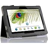 ELTD® Hochwertigem PU-Leder Case Hülle Für Odys Visio 25,7 cm (10,1 Zoll) Tablet-PC Mit Ständer/ Schutzhülle Ständer/Aufsteller Funktion (Für Odys Visio, Schwarz)