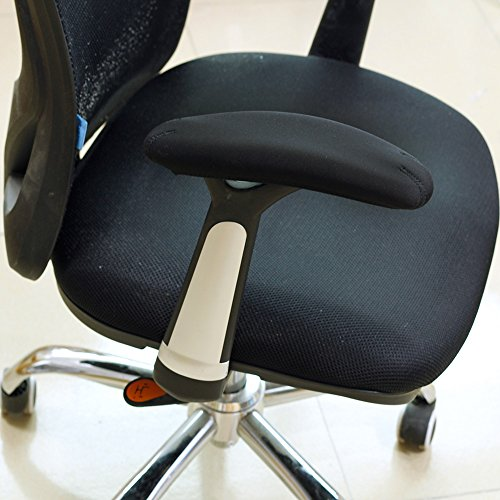 BlueCosto Soft Neoprene Office Chair Arm Covers Armrest Pads Black - Set of 2 Desk Arms