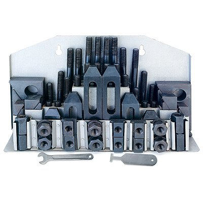 HHIP 3900-0001 58 Piece Clamping Kit (5/8 Inch  T-Slot)  Stud Size 1/2-13