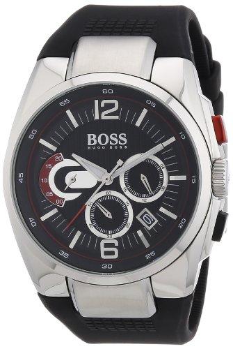 Hugo Boss 1512735 - Reloj analógico de cuarzo para hombre con correa de silicona, color negro