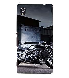 PrintVisa Sports Bike Design 3D Hard Polycarbonate Designer Back Case Cover for Sony Xperia M4 Aqua