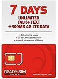 READY SIM トリプルカットで全SIMサイズ(標準・マイクロ・ナノ)に対応 アメリカ本土、ハワイ、プエルトリコで利用可能(通話+SMS+データ通信500M、7日間)