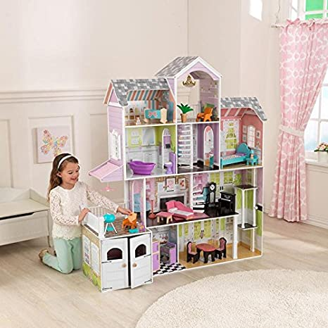 KidKraft Grand Estate Dollhouse + 26 Pieces of Furniture (3+ Years) by KidKraf