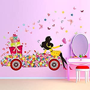 Bargain World Child Room Decoration DIY Wall Sticker Wallpaper Butterfly Girl Removable Art Decal Home Mural from Bargain World Online