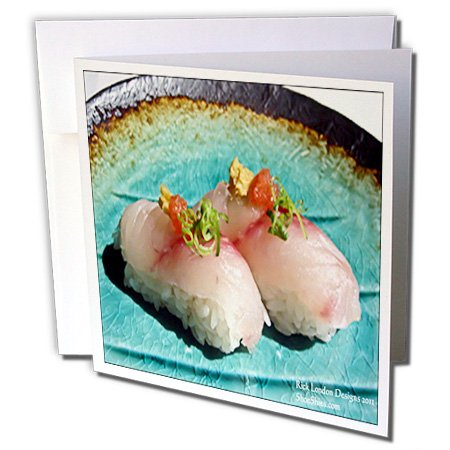 Rick London Fine Art Sushi Gifts - Scrumptious Pieces Of Sushi - 1 Greeting Card with envelope (gc_25816_5)