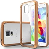 [Fusion Clear] Caseology Samsung Galaxy S5 Crystal Clear [Scatch-Resistant] Hybrid Cover with Protective Shock Absorbent TPU Bumper Case [Copper Gold] [Made in Korea] (for Verizon, AT&T Sprint, T-mobile, Unlocked)