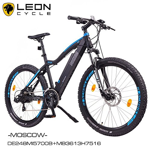 NCM-Moscow-2016-29-Zoll-Elektrofahrrad-MountainbikeE-MTB-E-BikePedelec-36V-250W-Bafang-Motor-36V-13Ah-designer-Rahmen-Akkumatt-schwarzhell-blau