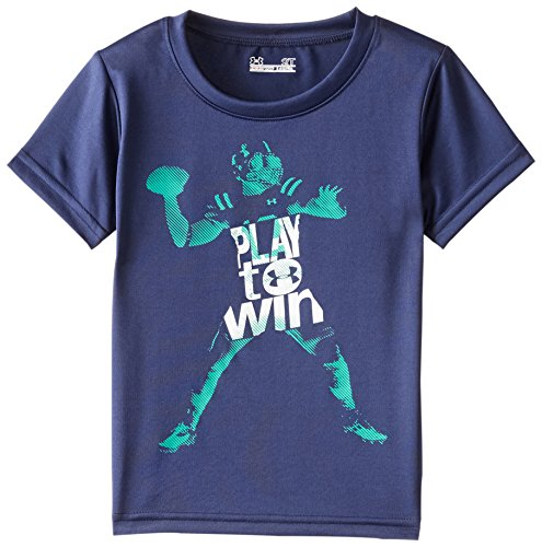 Under Armour Little Boys' Play To Win Short Sleeve, Blue Knight, 4T