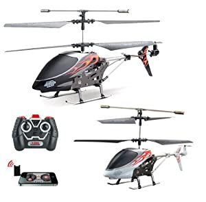 i-Helikopter PRO - 3.5 Kanal rc r/c ferngesteuerter Hubschrauber Steuerung mit Iphone/Ipad/Ipod Touch oder Android-Gerät, Ready-to-Fly Heli-Modell, Neu