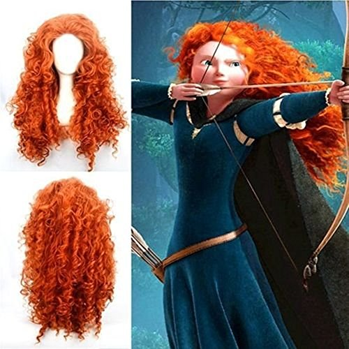 Halloween 2017 Disney Costumes Plus Size & Standard Women's Costume Characters - Women's Costume CharactersHigh-Quality Synthetic Cosplay Merida Wig - Adult Brave Costume Accessory