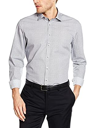 Seidensticker Camisa Vestir Super Slim (Azul / Blanco)