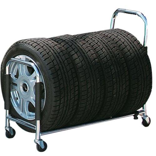 ボンフォーム(BONFORM) 伸縮自在 タイヤラック 4本用 タイヤカバー付き 7250-40SI