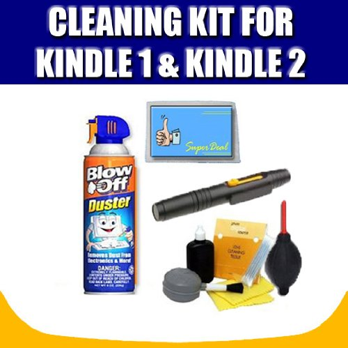 Cleaning Kit For The Kindle 1 and Kindle 2 and Exclusive FREE Complimentary Super Deal Micro Fiber Cleaning Cloth